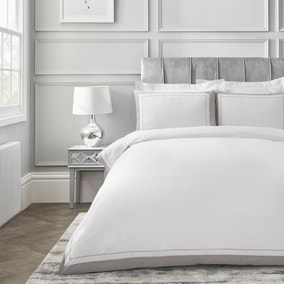 Dorma Purity Kington Silver Duvet Cover and Pillowcase Set