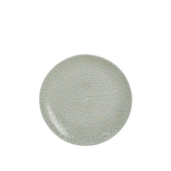 Reactive Leaf Side Plate Blue