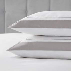 Dorma Purity Kington Silver Housewife Pillowcase Pair