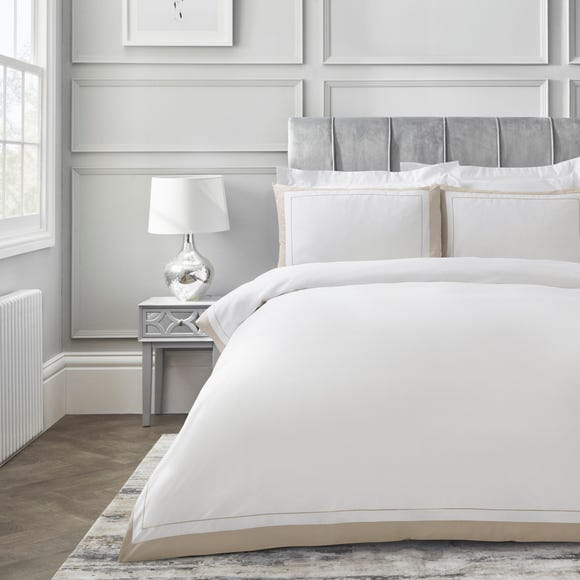 Dorma Purity Kington Natural Duvet Cover and Pillowcase Set  undefined
