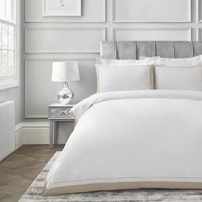 Dorma Purity Kington Natural Duvet Cover and Pillowcase Set