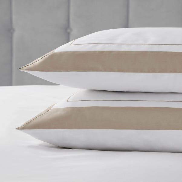 Dorma Purity Kington Natural Housewife Pillowcase Pair