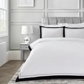 Dorma Purity Kington Black Duvet Cover and Pillowcase Set