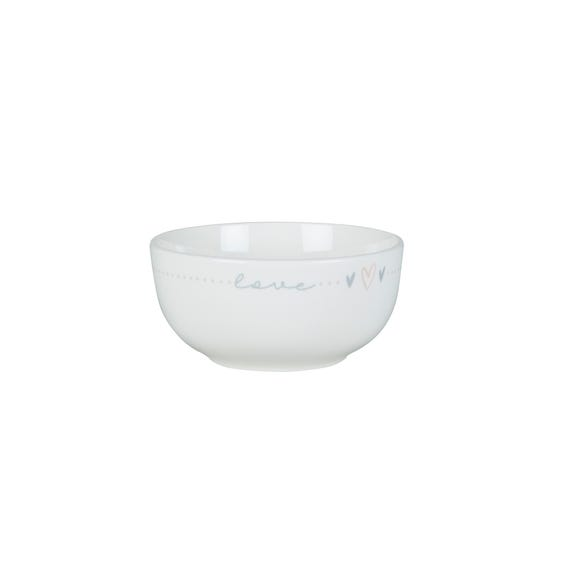 Sweet Words Cereal Bowl White