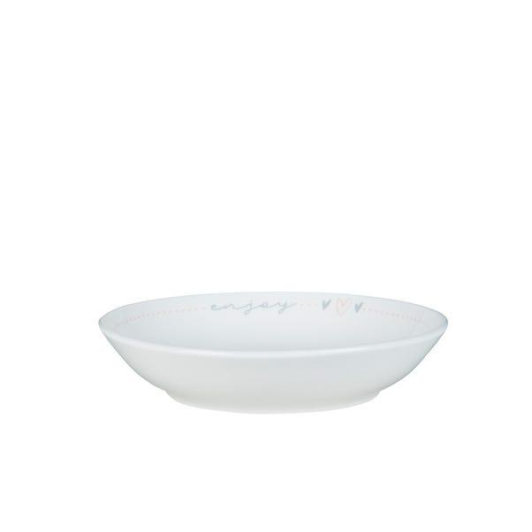 Sweet Words Pasta Bowl White