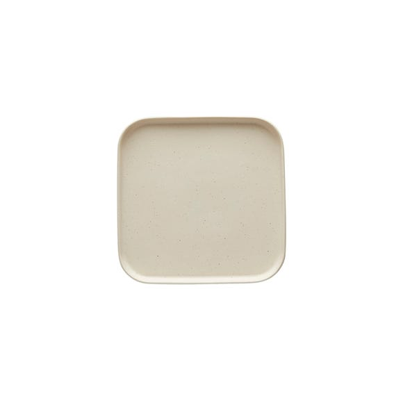 Elements Square Side Plate White