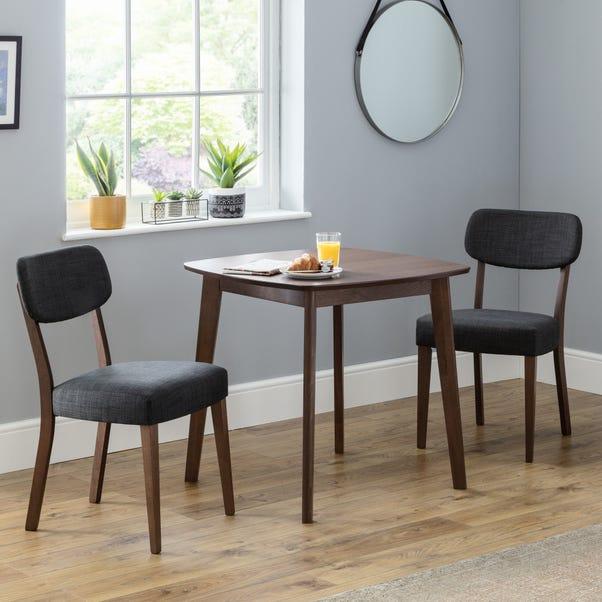 Farringdon Set of 2 Dining Chairs Grey Linen Grey
