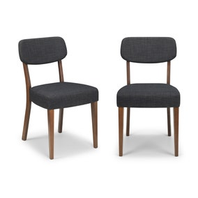 Farringdon Set of 2 Dining Chairs Grey Linen