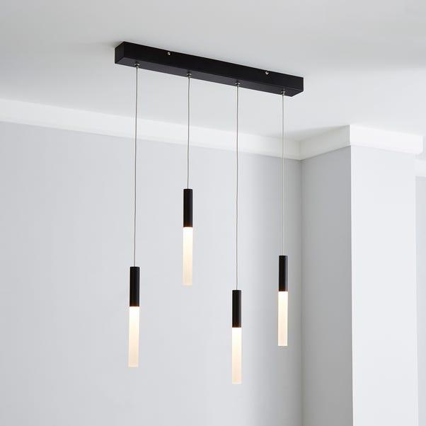 Kendal 4 Light Hanging Bar LED Fitting Black