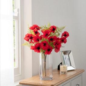 Florals Forever Eleanor Poppy Luxury Bouquet Red 58cm