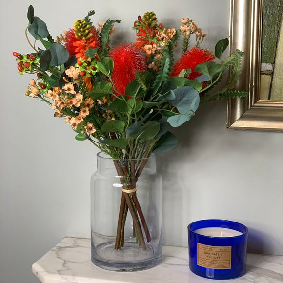 Florals Forever Eliza Banksia Luxury Bouquet Red 63cm Red