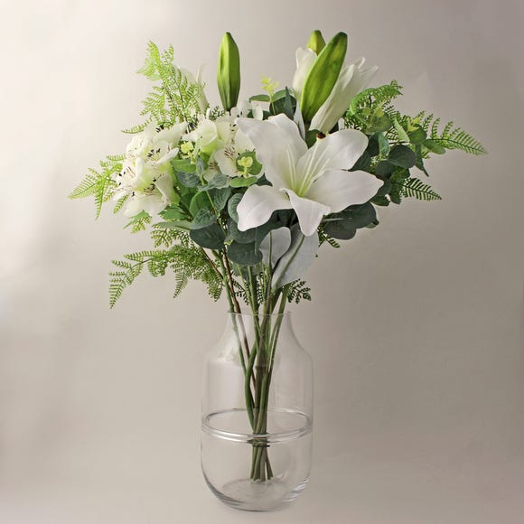 Florals Forever Olivia Lily Luxury Bouquet White 63cm White