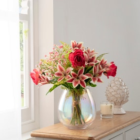 Florals Forever Anna Tiger Lily Luxury Bouquet Pink 63cm