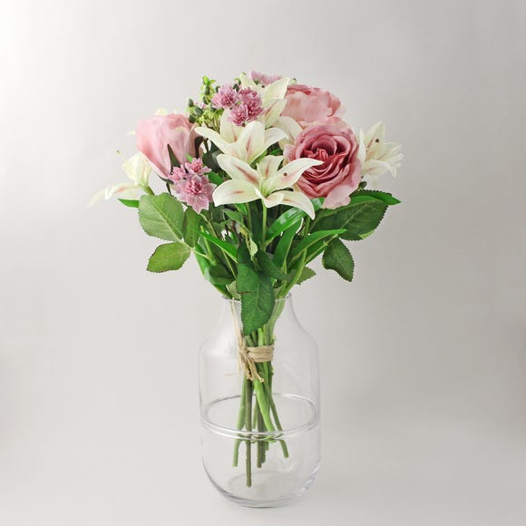 Florals Forever Phoebe Tiger Lily Luxury Bouquet Pink 58cm Pink