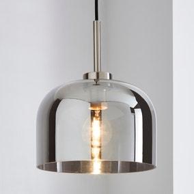 Palazzo Smoked Glass Pendant Ceiling Fitting Dunelm
