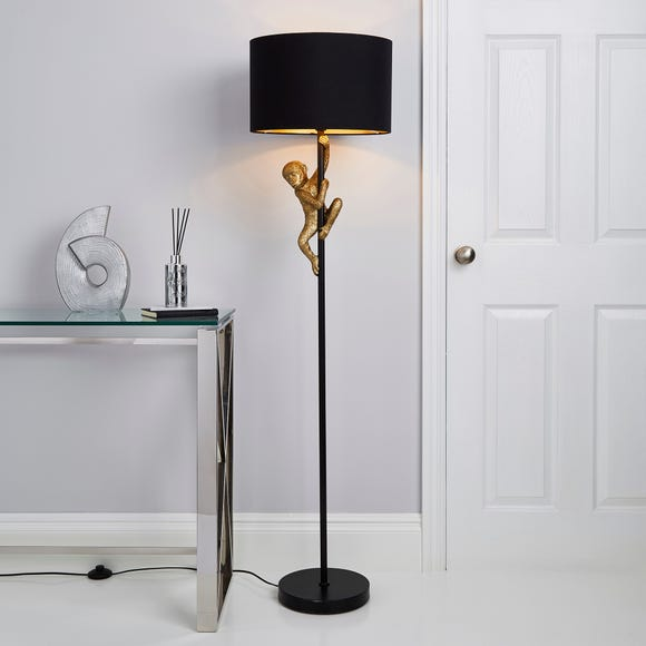 Odisha Monkey Floor Lamp Gold