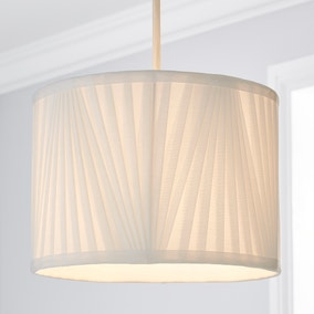 Eliza V Pleat 25cm Drum Shade