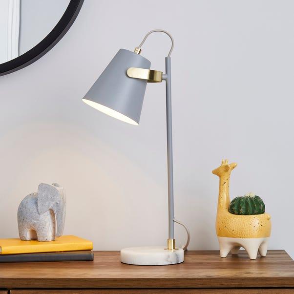 Karter Marble Base Table Lamp Grey
