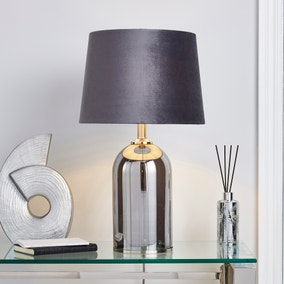 Lenny Smoked Glass Table Lamp
