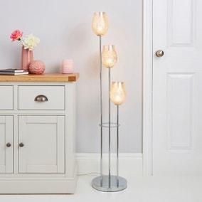 Kylee Mercury 3 Light Glass Floor Lamp