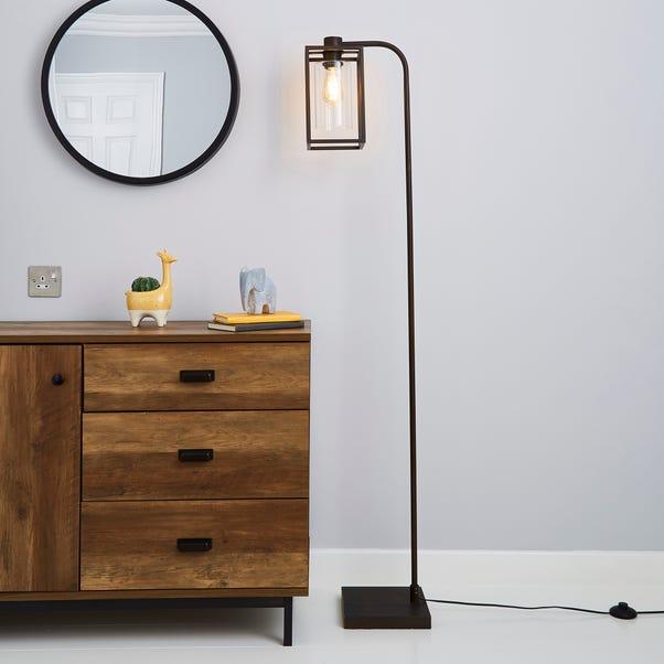 London Bronze Industrial Floor Lamp Bronze