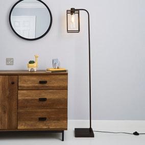 London Bronze Industrial Floor Lamp