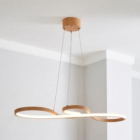 Jaxson LED Wood Effect Ceiling Fitting