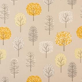 Sweet Trees Ochre PVC Fabric