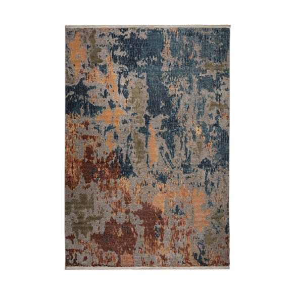 Ivy Abstract Rug Blue undefined
