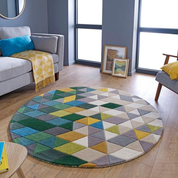 Prism Wool Rug Green