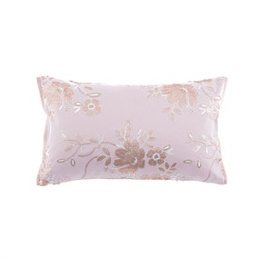 Elene Pink Floral Sequin Boudoir Cushion