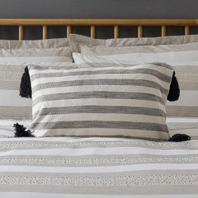 Ethnic Natural Stripe Cushion