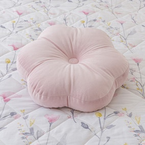 Pink Velvet Flower Cushion