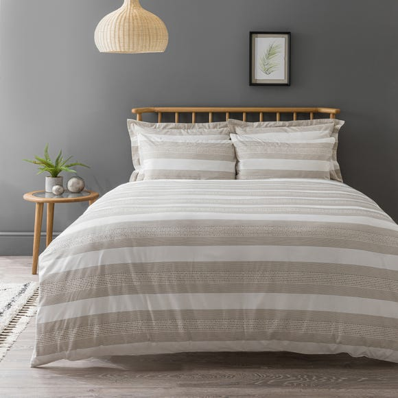Kano Woven 100% Cotton Natural Duvet Cover and Pillowcase Set  undefined