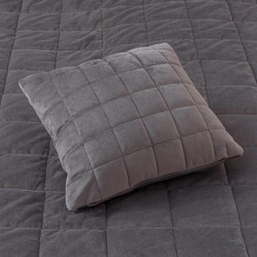 Velvet Grey Square Cushion