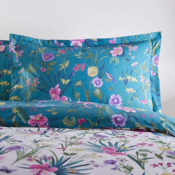 Fleur Blue Oxford Pillowcase Blue