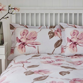 Lois Large Floral Pink Oxford Pillowcase