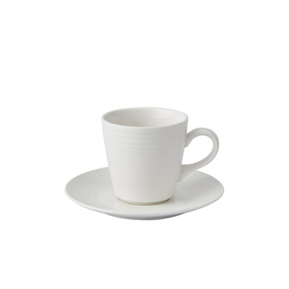 Paige Large Cup and Saucer White