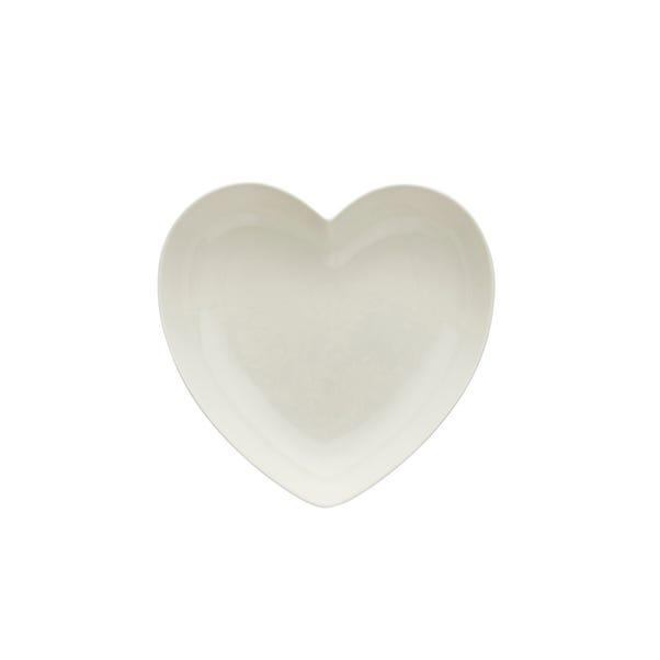 Heart Shaped Pasta Bowl White