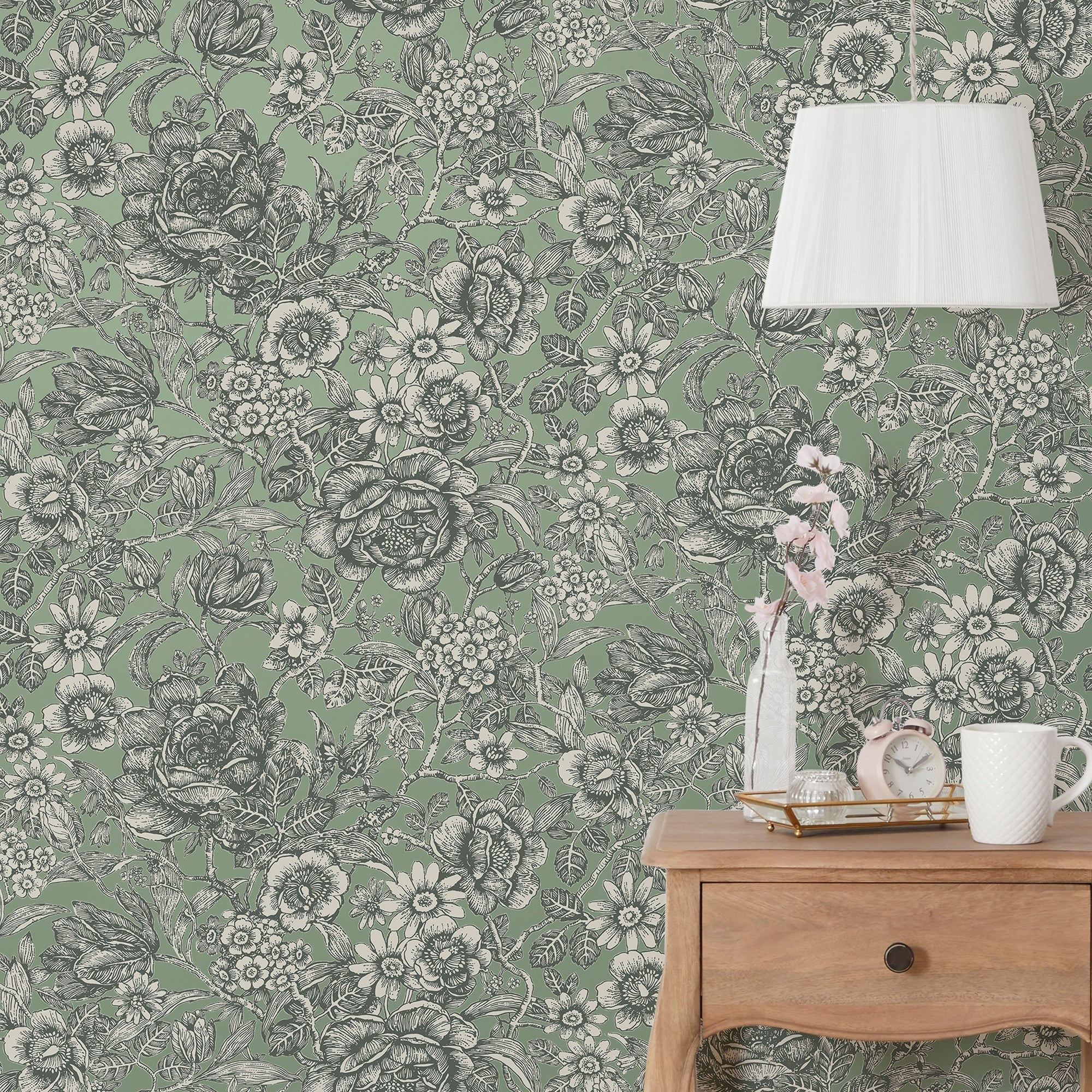 Click to view product details and reviews for Wild Garden Sage Wallpaper Green.