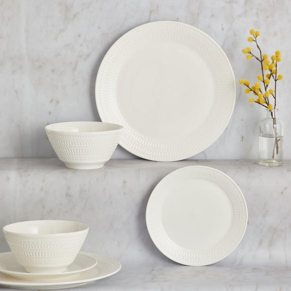 Faro 12 Piece Dinner Set White
