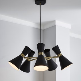 Archie Black 5 Light Ceiling Fitting