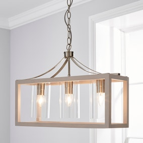 Tove Wooden 3 Light Ceiling Fitting
