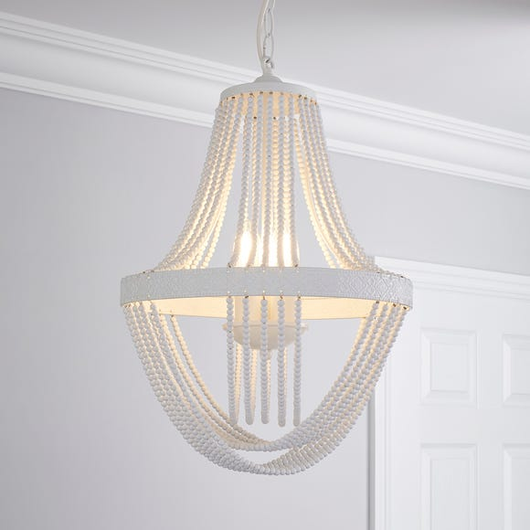 Ethel Beaded Chandelier White