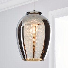 Seychelles Smoked Pendant Ceiling Fitting