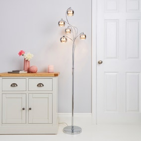 Seychelles Smoked 5 Light Floor Lamp