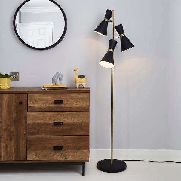 Archie Black Floor Lamp Black