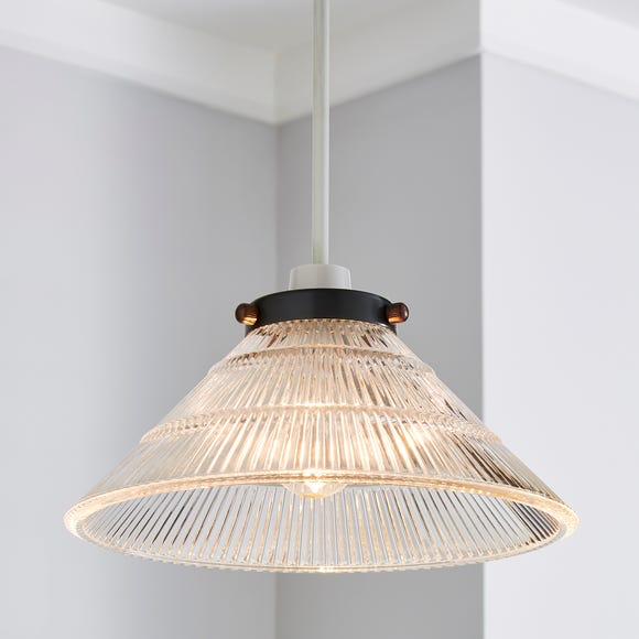Logan Glass Easy Fit Pendant Clear