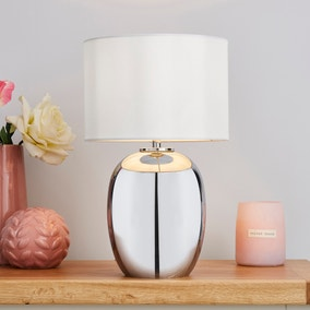 Seychelles Mini Smoked Table Lamp