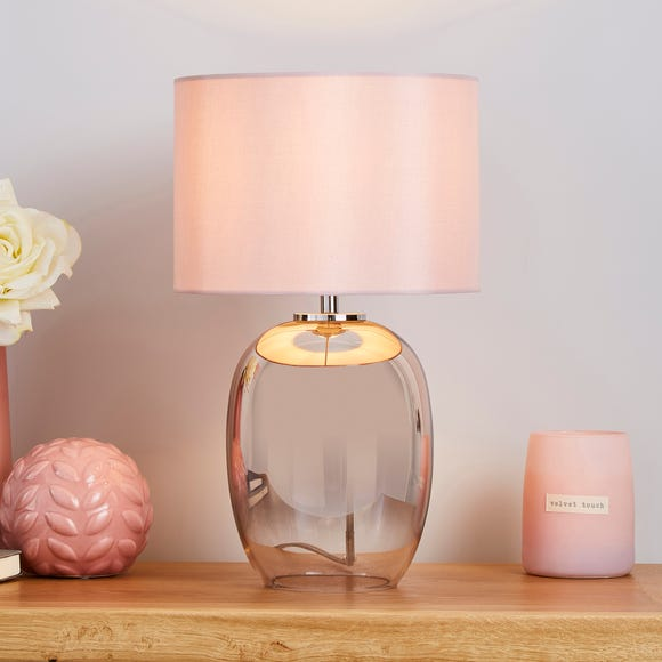Seychelles Mini Blush Pink Table Lamp Blush (Pink)